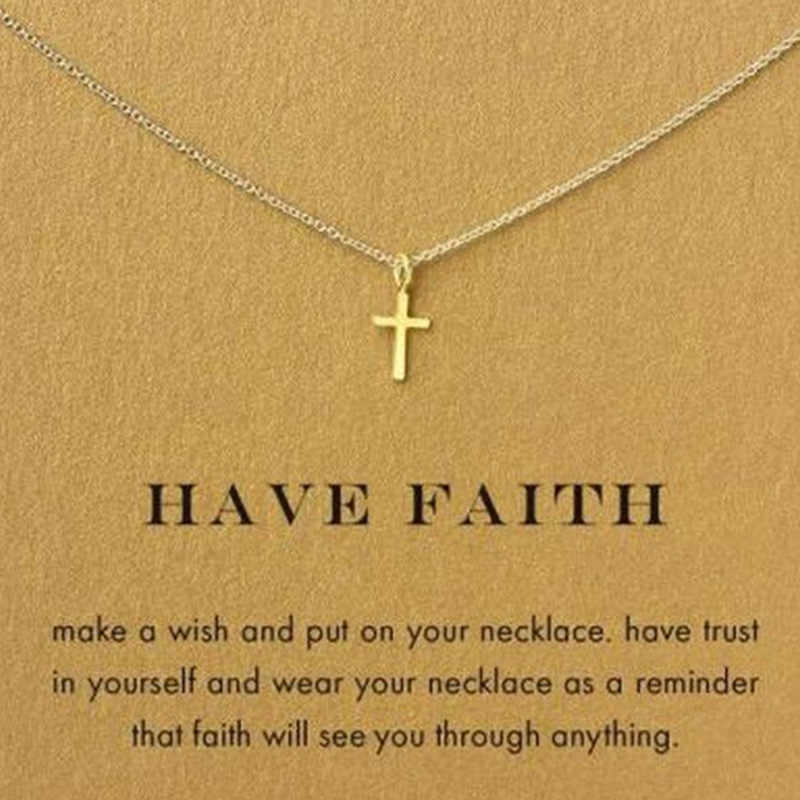 Gold Cross Pendant Necklace Women Girl Kids,Mini Charm Pendant Gold Color Jewelry Crucifix Christian Ornaments Drop shipping