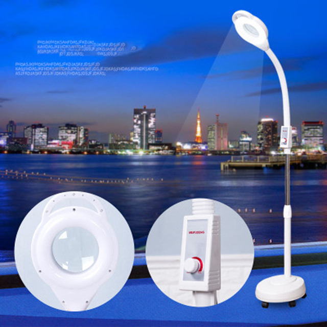 LED beauty salon stepless dimming cold light tattoo lamp beauty lamp magnifying glass acne nail surgery shadowless floor lamp