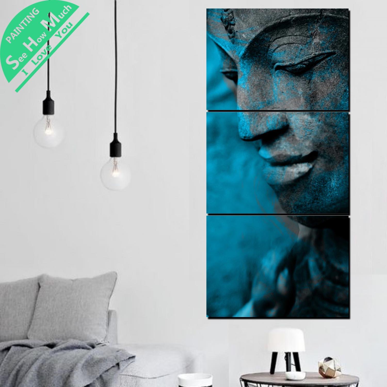 3 Шт. Будда Статус HD Печатных Холст для Живописи Wall Art Украшения для Гостиной Плакат