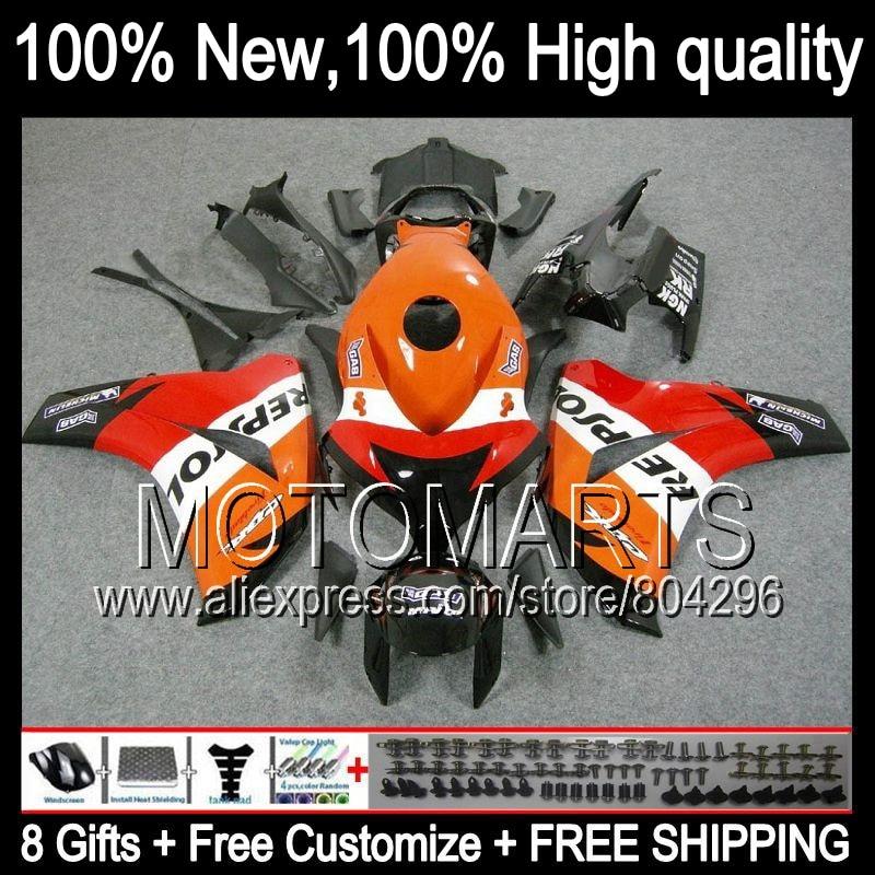 Bodys Red For HONDA CBR1000RR 08 11 CBR1000 RR 40JK2 Repsol Orange CBR 1000RR 1000 RR 08 09 10 11 2008 2009 2010 2011 Fairing