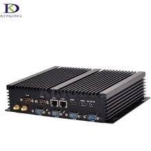 2017 дешевые i3 безвентиляторный промышленный мини-ПК Intel Core i3 4030Y двойной LAN 2 * HDMI HTPC с 6 RS232 com Порты и разъёмы мини настольных ПК