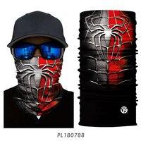 Venom web shooter bandana pescoço de esqui gaiter super herói homem aranha máscara facial escudo correndo ciclismo pesca bicicleta bandana tubo lenço Máscara facial p/ ciclismo     -