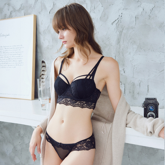 05790706cf Lace Embroidery Bra Set Women Plus Size Push Up Underwear Set Bra and Panty  Set 32 34 36 38 ABC Cup For Female