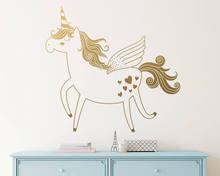Cute Animal Kids Room Unicorn Wall Sticker Baby Decoration Beauty Boys Girls Ornament Art Design W242