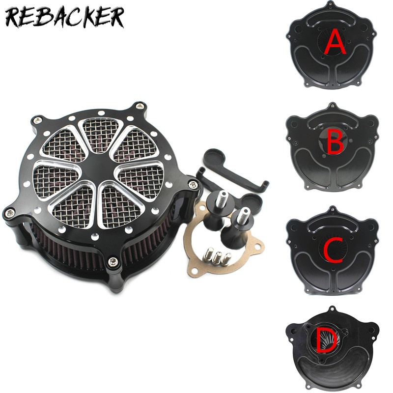 Motorcycle Air Filters Cleaner Filter CNC Crafts For Harley Touring Street Glide Road King Sportster 883