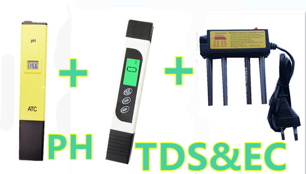 TDS EC Pen Water Quality Test  Meter + PH Meter 0.0-14.0pH for Aquarium Pool Water Laboratory + water electrolyzer electrolysis  цены