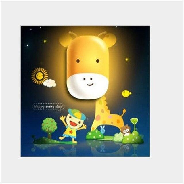 Lovely 3D Animal Night Light motion Light Sensor LED moon wall night ...