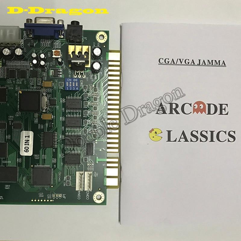 60 в 1 Простая установка выход CGA VGA мультикад PCB Вертикальная забавная игровая доска Классическая горизонтальная прочная для Jamma Arcade