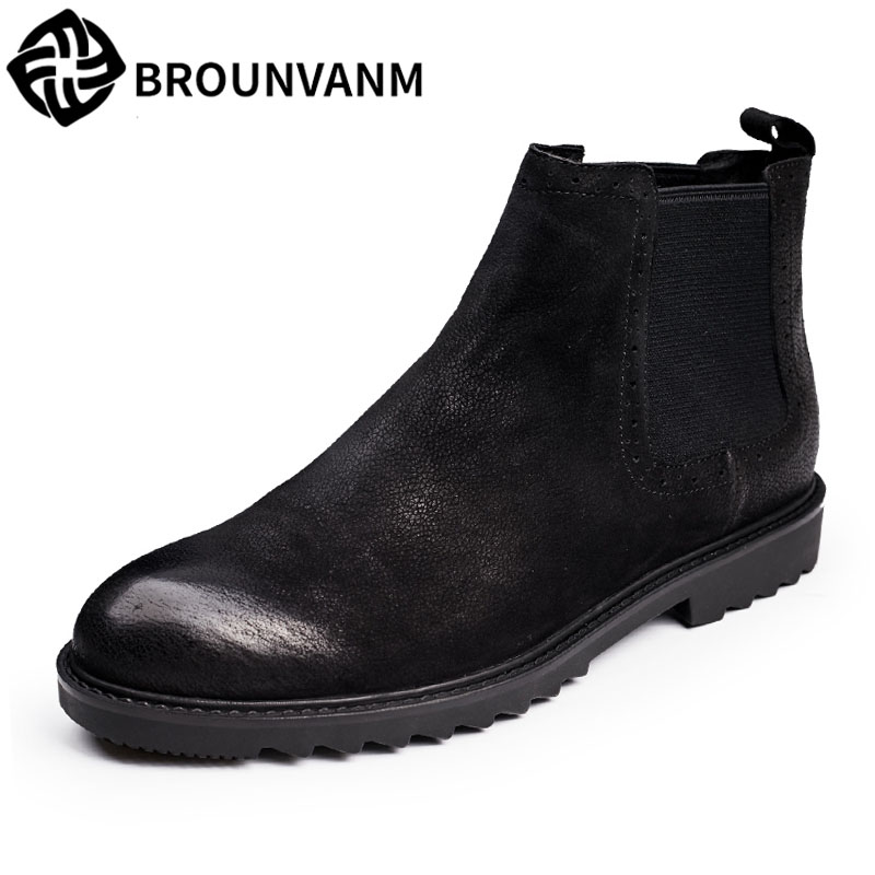 Men Martin bootswinter Martin boots, 2017 new autumn winter British retro men shoes zipper leather shoes breathable 2017 new autumn winter british retro zipper leather shoes breathable sneaker fashion boots men casual shoes handmade