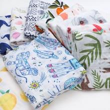 Fashionable Cotton Baby Blankets Newborn muslin Baby Swaddle
