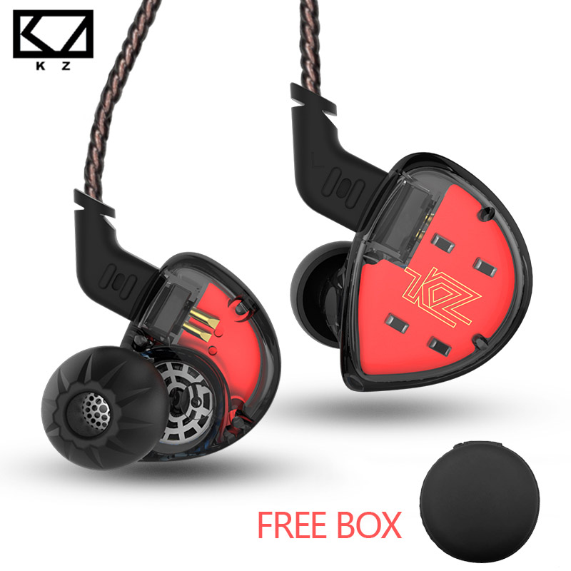 KZ ES4 In Ear Monitors Armature Dynamic Hybrid Headset Ear Earphone Earbuds HiFi Super Bass Noise Cancelling Ear Hooks ZS10 AS10