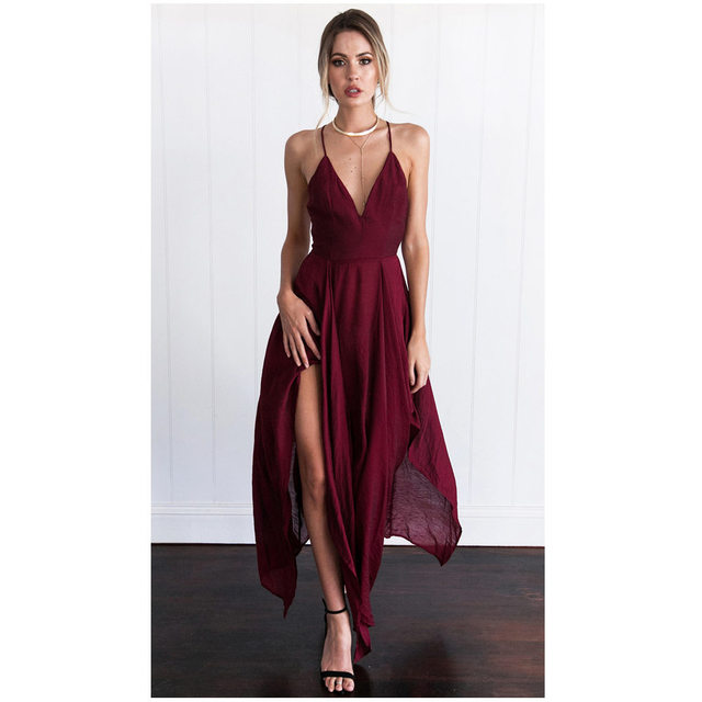 13abb6117 2019 New Fashion formal dress women maxi Long Strap sexy elegant ...