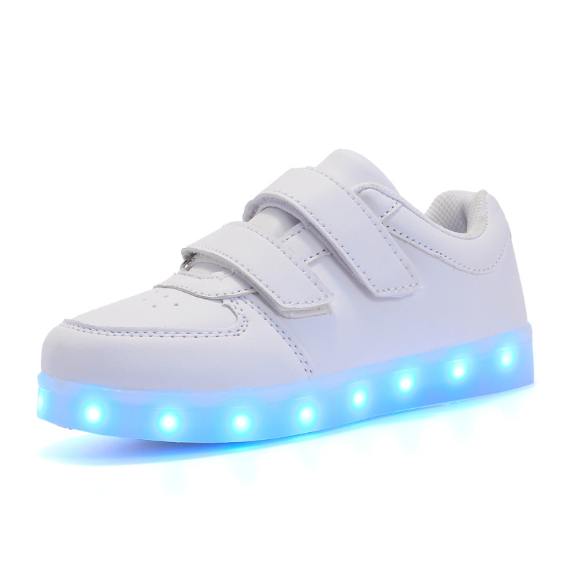 Eur25-37// Usb Glowing Sneakers Basket Led Children Lighting Shoes illuminated krasovki Luminous Sneakers for Boys and Girls
