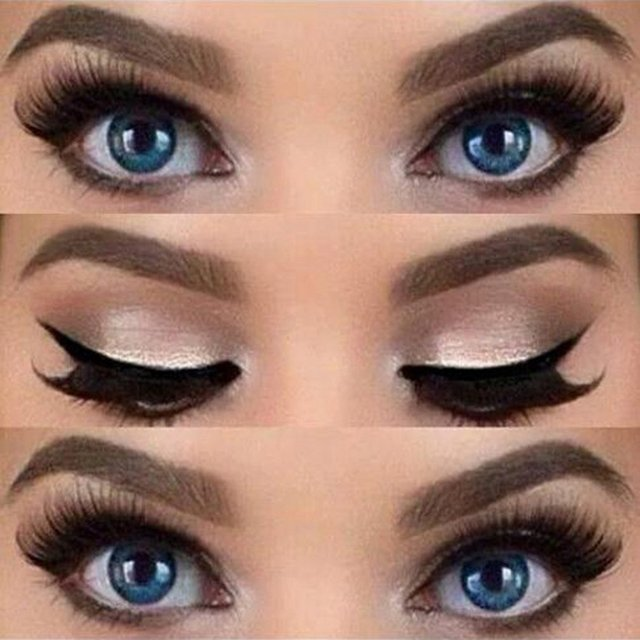 Eyeliner Stencil Top Bottom Smokey & Cat Eye Liner Template Makeup Tool 4