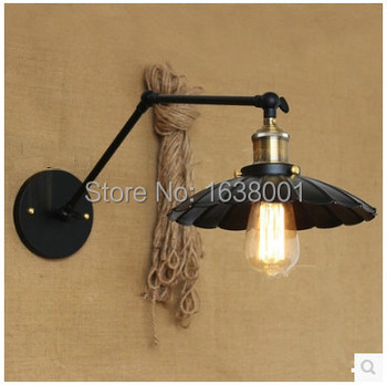 Double Arm Wall Lamp  Nordic Popular Personality Long Arm Antique Bedroom Office Bar Lamp