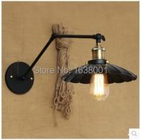 Podwójne ramię kinkiet Nordic popularny osobowość długie ramię antyczne sypialnia biuro lampa na barek w Lampy ścienne od Lampy i oświetlenie na