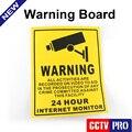 10 Pcs Início CCTV Segurança Vigilância Etiqueta de Aviso Decal Sinais de Vídeo Da Câmera 200*250mm