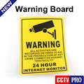 10Pcs Home CCTV Surveillance Security Camera Video Sticker Warning Decal Signs 200*250mm