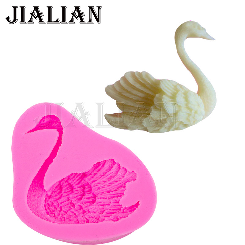 3D Swan soap mould chocolate wedding cake decorating tools DIY Duck fondant silicone mold Polymer Clay Resin Candy Fimo T0102