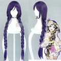 Love Live! LoveLive! Nozomi Tojo Cosplay Wigs Long Straight Braid Purple Hair Ponytail Women Girl Anime Party Wig Free Shipping