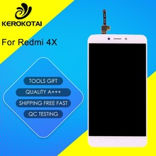 For Xiaomi Redmi 4X 100% Tested Good Quality LCD Display Touch Screen Digitizer MI Hongmi Redmi 4X LCD Assembly With Frame цена и фото