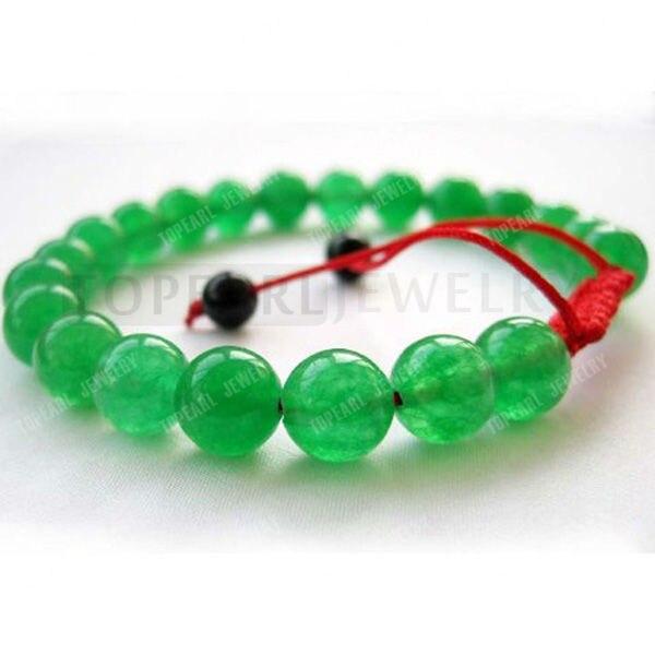 Topearl Bijoux 3 pcs 8mm Vert Jade Tibétain Bouddhiste Mala Méditation Bracelet SBR125(China (