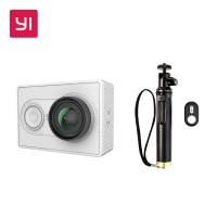 Yi 1080P Action Camera With Bluetooth Selfie Stick White Kit Sport Mini Camera Promotion