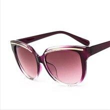 YAYA Moda Ceja Del Ojo de Gato gafas de Sol de Marco Las Mujeres Diseñador de la Marca de Gran Tamaño Gafas de Sol Gafas De Sol Mujer