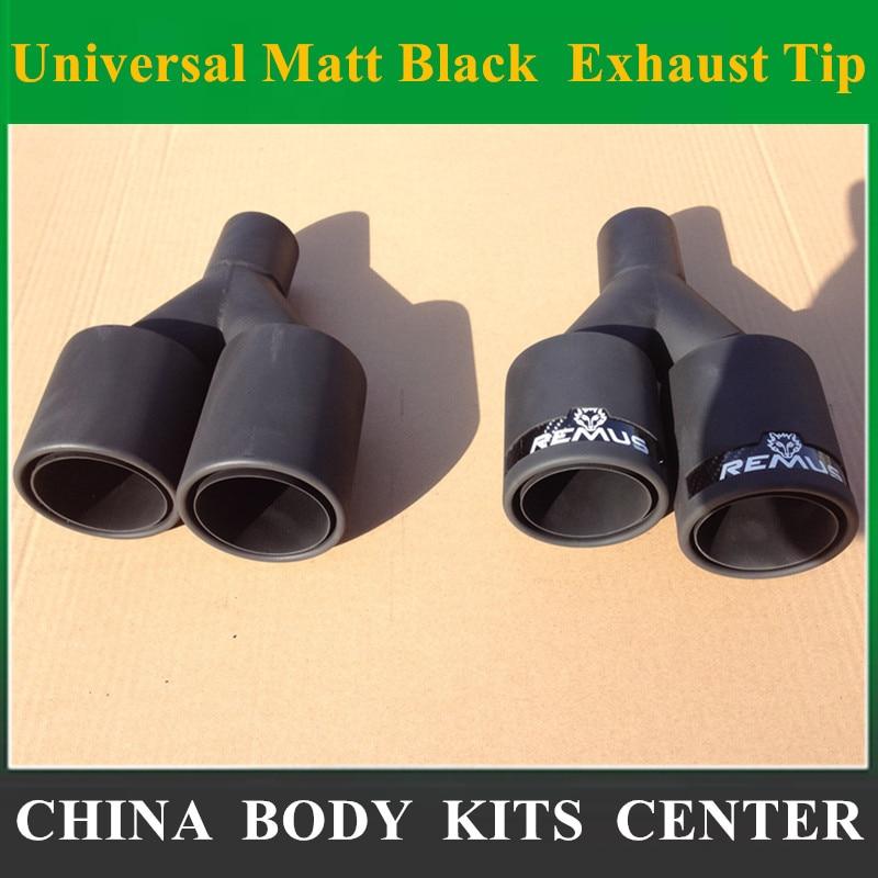 Здесь продается  1Pair 63MM IN - 89MM OUT Universal Matt Black Car Styling Rear Exhaust Tips Muffler Pipe Remus Exhaust  Автомобили и Мотоциклы