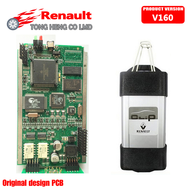 2017 newest OBD2 Auto Diagnostic Interface for Renault Can Clip V160 With Full Chip Newest Software Free Shipping