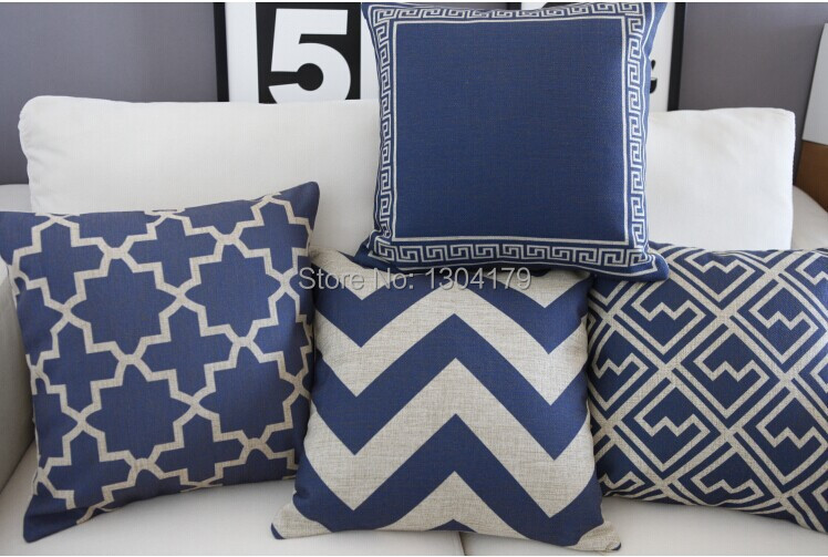 Delicieux Hot Australia Navy Blue Wave Pattern Cushion Blue Cotton Pillow Cushion  Home Decorative Sofa Cushions 45*45cm In Cushion From Home U0026 Garden On ...