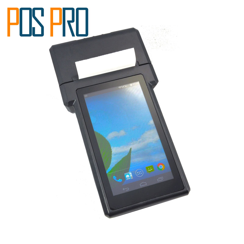 IPDA017 Free Shipping Android Printer Courier PDA with thermal Printer built in 1D QR CCD Barcode Scanner For Android Tablet Pc