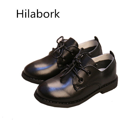 Leather 2017 spring new kid boy shoes leather casual shoes low to help rubber side zipper girls walking children shoes boys