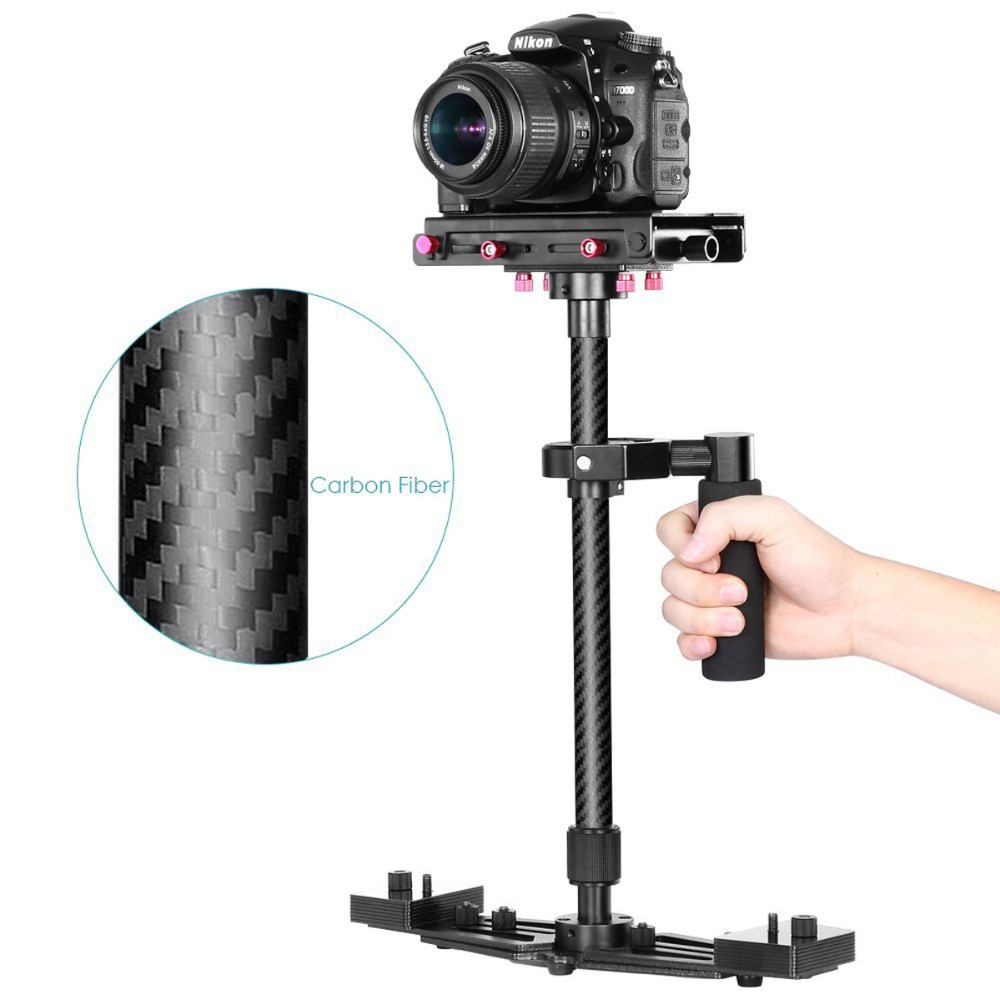 Professional Handheld Stabilizer 26 Carbon Fiber Camera Steadicam for Canon Nikon Sony DSLR Camcorder DV Camera Video professional s60 66cm handheld camera stabilizer for camcorder digital camera canon nikon sony dslr mini steadycam t150 3