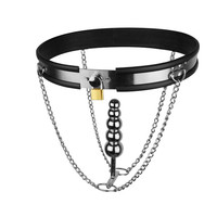 New Adjustable Stainless Steel T shaped Female Fetish Chastity Belt Anal Plug Bdsm Bondage Gear Pants Sex Toys For women