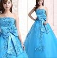 2017 cristales baratos vestidos de quinceañera balón vestido de novia de organza con cuentas ruffles azul desmontable sweet 16