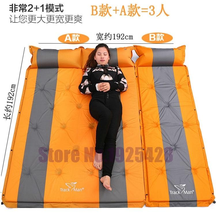Matelas gonflable automatique de 3 personnes auto-gonflant coussin étanche à l'humidité tente de camping en plein air BBQ coussin tapis de plage de pêche