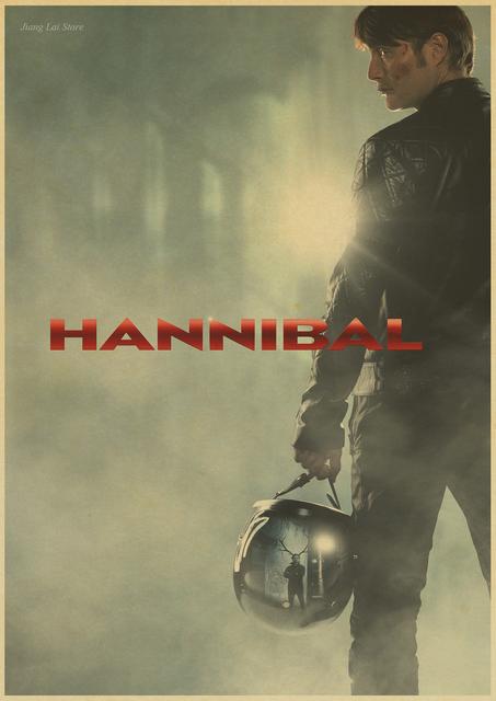 Hannibal Poster Kraft Decorative Painting Max Michelsen Hugh Dancy Horror Thriller Retro