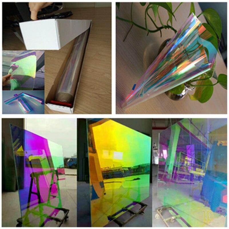 Film dichroïque auto-adhésif de fenêtre d'animal familier de bâtiment de 68 cm X 30 m 68 microns pour le verre ou l'acrylique