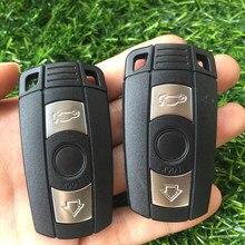 Control remoto clave Shell para BMW E61 E90 E82 E70 E71 E87 E88 E89 X5 X6 por 1 3 5 6 Series de botón 3 funda inteligente para llave de coche cubierta