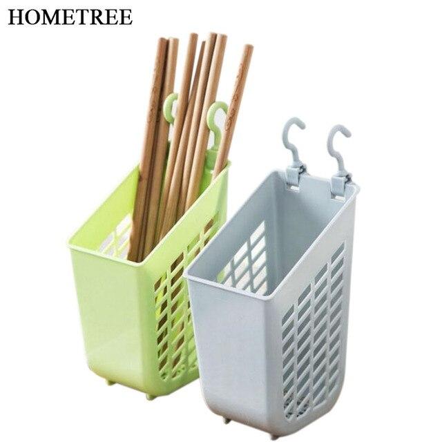 HOMETREE Simple Chopsticks Tube Tableware Storage Rack Drain Rack Shovel  Spoon Bucket Knife Fork Storage Kitchen