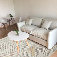The New Chinese Modern Minimalist Living Room Carpet Bedroom Table Mat Wash Room Grey Rectangular Windows