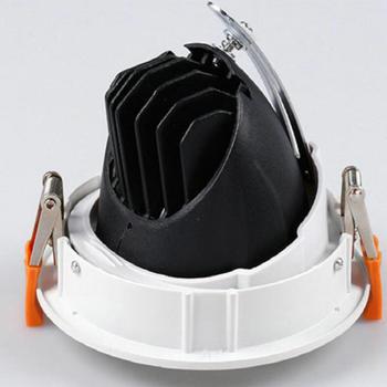 6 Sztuk 50W LED Oświetlenie Downlight LED AC85-265V Okrągły Czarny Biały Doprowadziły Sufitu Lampa Halogen Oświetlenie Wewnętrzne Z Napędem
