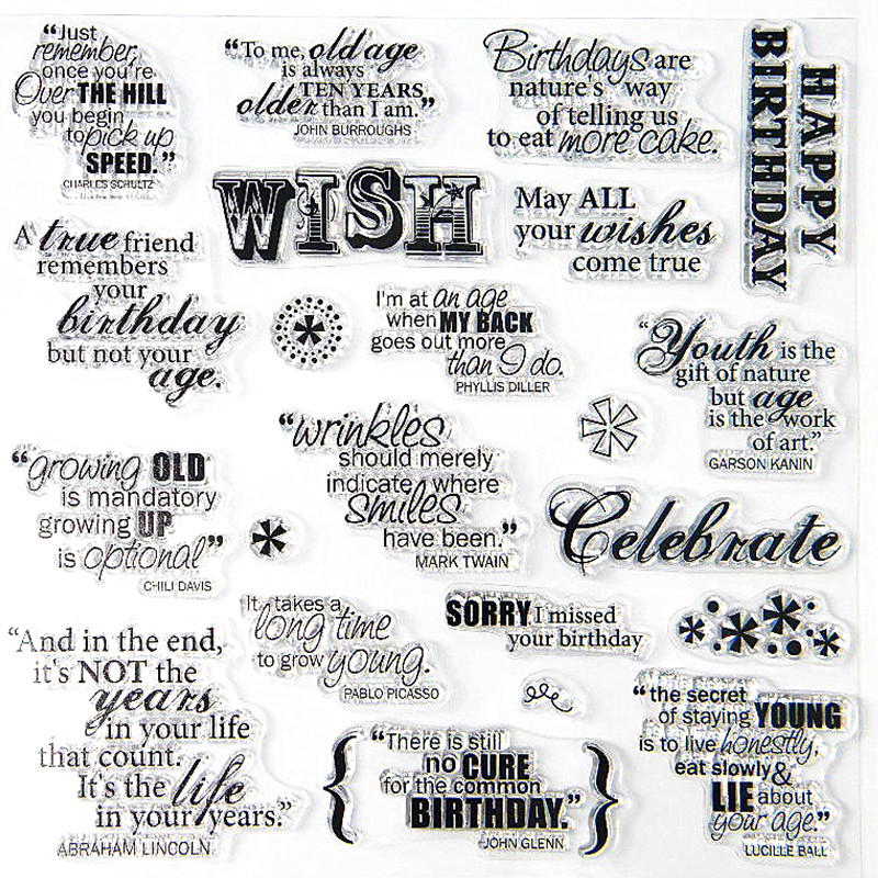 20*20cm wedding oaths Transparent Stamp ENGLISH WORD wish Clear stamps Seal DIY Scrapbooking stamp /album photo decoration lovely animals and ballon design transparent clear silicone stamp for diy scrapbooking photo album clear stamp cl 278