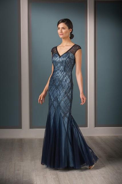 Nova chegada de charme 2016 V pescoço pesado Beading Crytal Tulle mangas sereia mãe Formal dos vestidos de noiva para o casamento