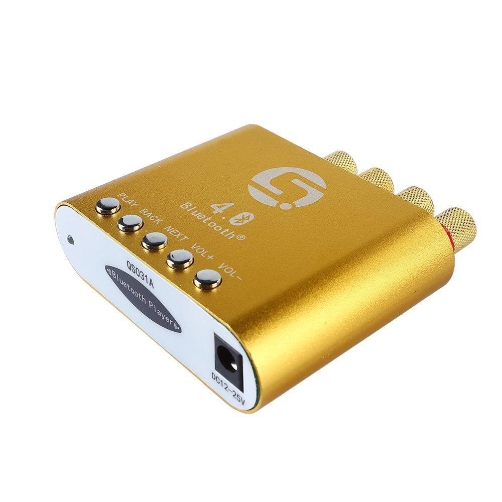 Мини 50 Вт + 50 Вт стерео HiFi <font><b>Bluetooth</b></font> Мощность AMP Усилители домашние аудио наушников (золото)