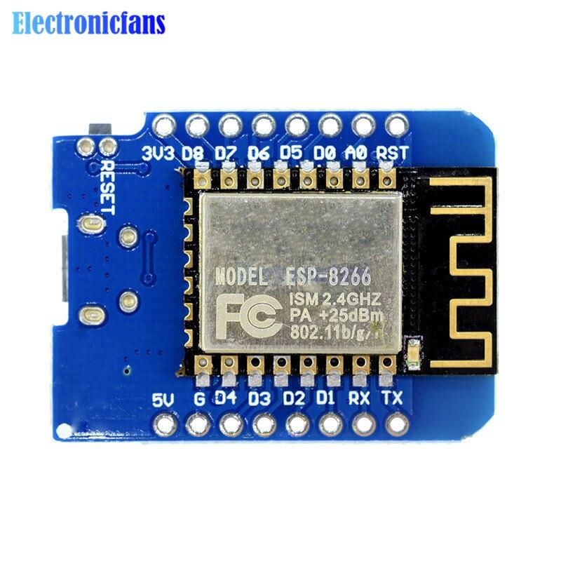 ESP8266 ESP-12 ESP-12F CH340G CH340 V2 USB WeMos D1 Mini WIFI Development Board D1 Mini NodeMCU IOT Board 3.3V With Pins