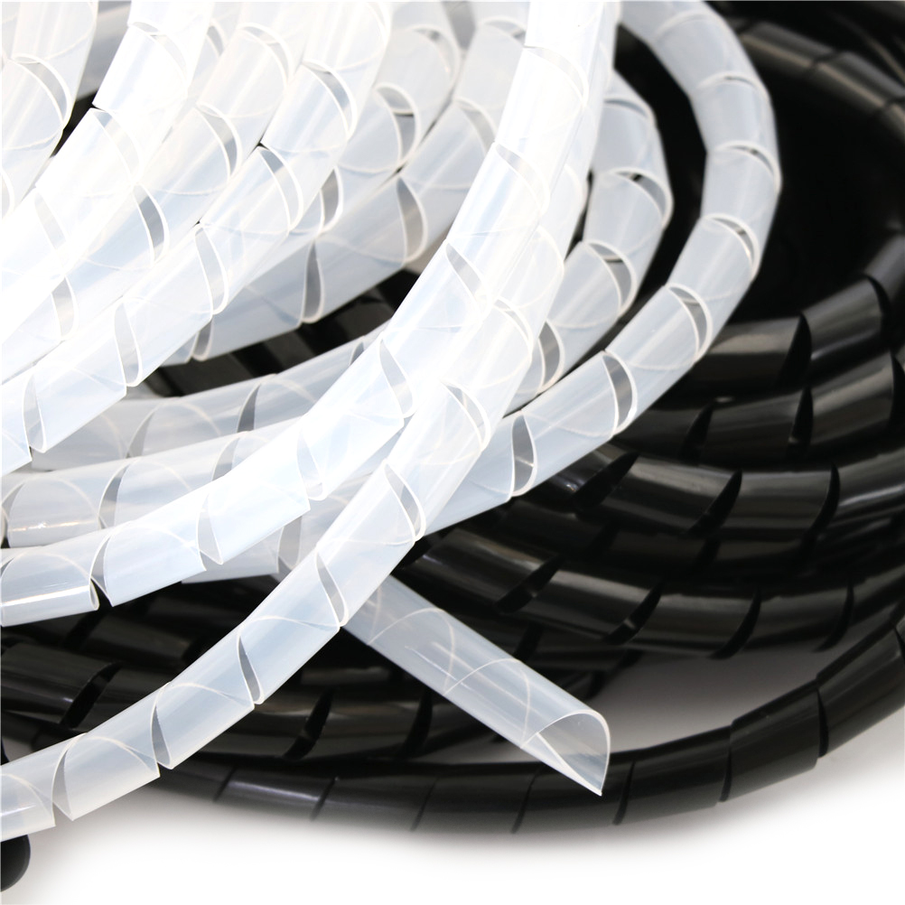 2M 25mm Wrap Tube Cable Spiral Wrap Tidy Cord Wire Banding Loom ...