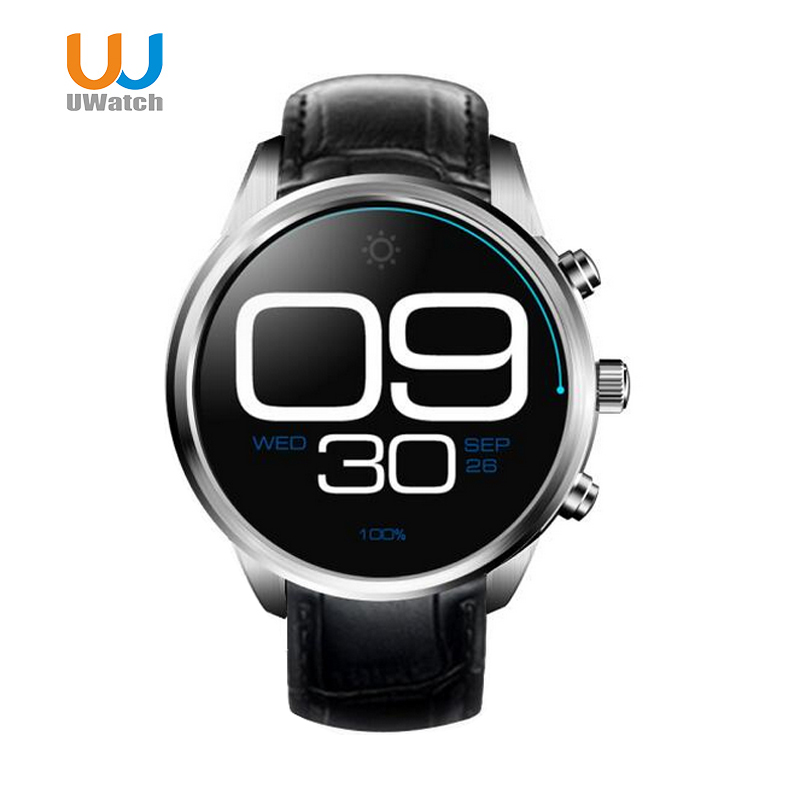 UWatch 3G Android 5.1 Smartwatch Bluetooth GPS Quad Core Wristwatch 1GB 8GB WiFi Smart Watch Relogio For IOS/Andorid no 1 d6 1 63 inch 3g smartwatch phone android 5 1 mtk6580 quad core 1 3ghz 1gb ram gps wifi bluetooth 4 0 heart rate monitoring