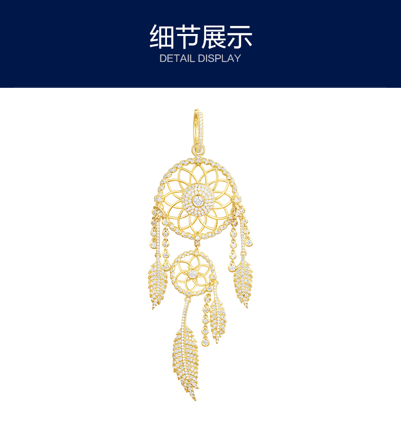 все цены на New zircon Tassel dreamcatcher Earring Long Drop Dangle gold color flower monaco Earring dream catcher For Women Brincos Jewelry онлайн